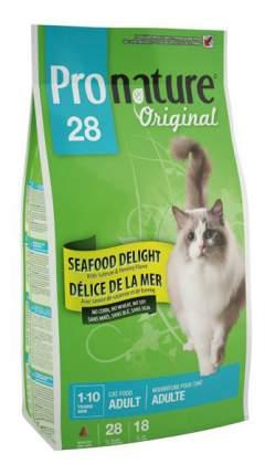 Сухой корм для кошек Pronature Original Океан Удовольствия, курица, морепродукты, 2,72кг