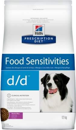 Сухой корм для собак Hill's Prescription Diet d/d Food Sensitivities, утка, 12кг