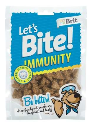 Лакомство для собак Brit Let's Bite Immunity, оригинальная форма, курица, 150г