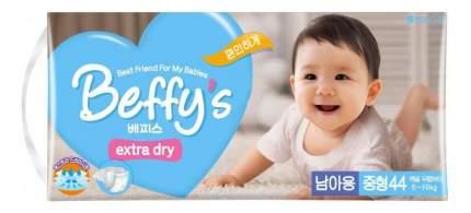 Подгузники Beffy's Extra Dry для мальчиков M (5-10 кг), 44 шт.