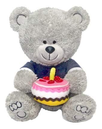 Мягкая игрушка LAVA Медвежонок Ники с тортом муз,