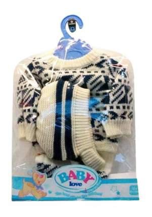 Одежда для кукол Junfa toys - зимняя версия - вязаный костюмчик и шапочка, от 1 года