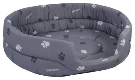 Лежанка для кошек и собак Дарэлл 53x42x16см серый