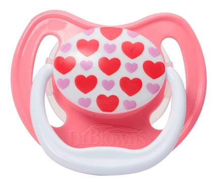 Силиконовая пустышка ортодонтическая Dr. Brown's Классик для девочек