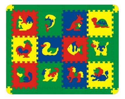 Мягкий коврик-пазл Флексика Животные 12 деталей