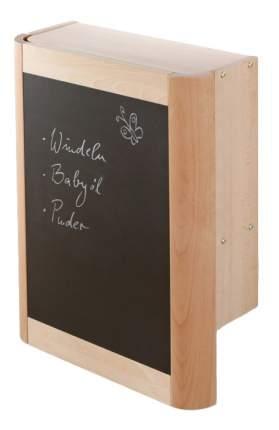 """Настенный пеленальный стол Geuther """"Wanda"""" натуральный, накладка - белая с овечками"""