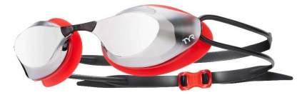 Очки для плавания TYR Stealth Racing Mirrored LGSTLTHM черные/красные/серебристые (717)