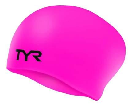 Шапочка для плавания TYR Long Hair Wrinkle-Free Silicone Cap 693 pink