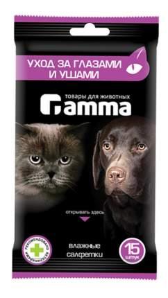 Влажные салфетки Gamma для ухода за глазами и ушами, 15 шт
