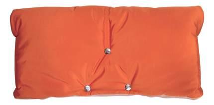 Муфта для рук мамы на детскую коляску Чудо-Чадо Флисовая (на липучке) оранжевый