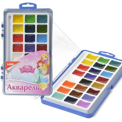 Художественные краски LORI Принцессы 24 цвета
