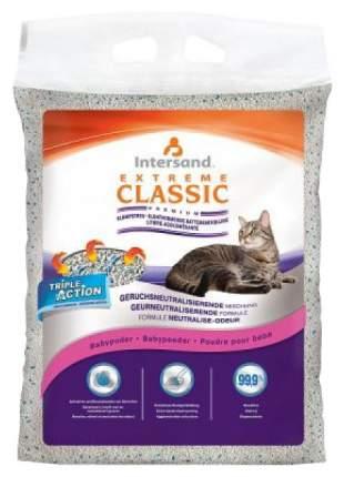 Комкующийся наполнитель для кошек Intersand Extreme Classic Baby Powder бентонитовый, 15кг