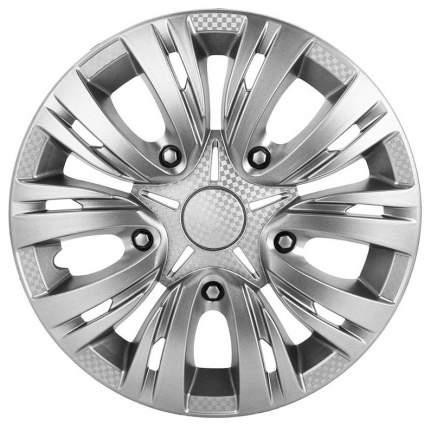 Колпаки колесные AIRLINE 13 дюймов Лион, серебристые, карбон