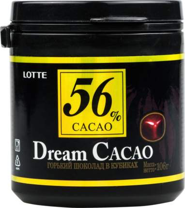Шоколад горький Lotte dream cacao 56% в кубиках 106 г