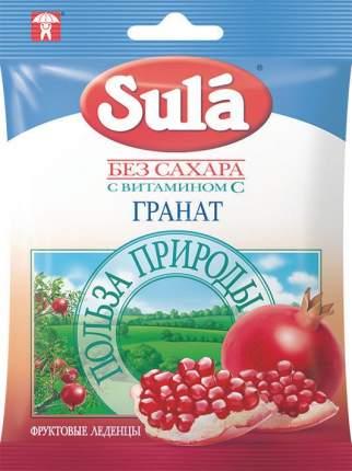 Леденцы Sula без сахара с витамином С гранат 60 г