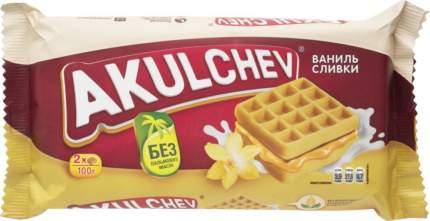 Вафли венские Akulchev ваниль-сливки 100 г