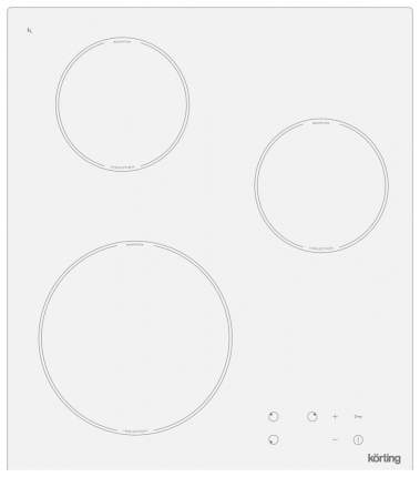 Встраиваемая варочная панель индукционная Korting HI 42031 BW White