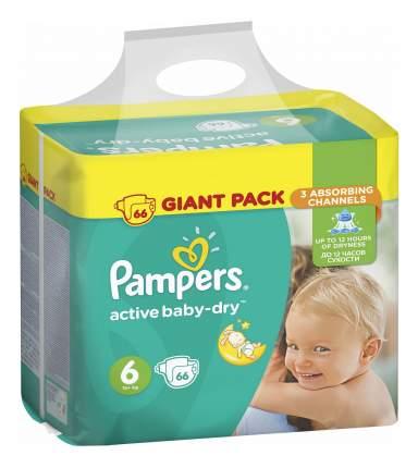 Подгузники одноразовые 15 кг, Active Baby-Dry 6 15+ Pampers PA-81637316