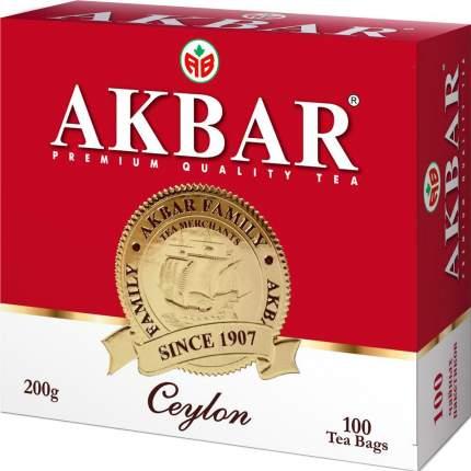 Чай черный Akbar цейлонский 100 пакетиков