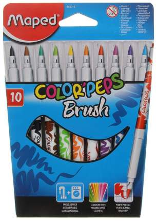 Набор фломастеров-кистей Maped Color Peps Brush 2,8мм 10 цветов