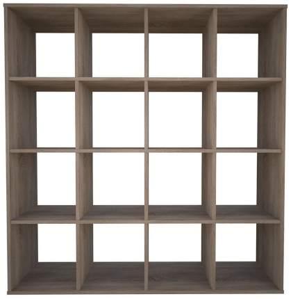 Стеллаж Polini Home Smart Кубический 16 секций, Дуб