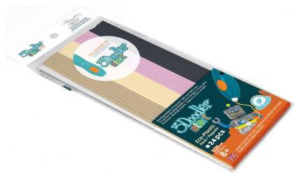 Эко-пластик к 3D ручке 3Doodler «Кондитерскя» 24 шт, 4 цвета