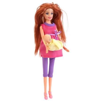 Кукла Карапуз 29 см софия Беременная, с Ребенком, в Розовом Платье