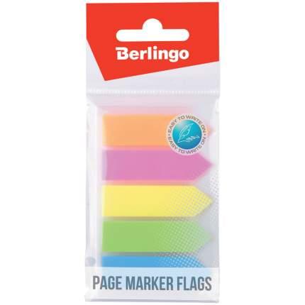 Флажки-закладки Berlingo, 44x12 мм, 20 листов, 5 неоновых цветов 24 штуки