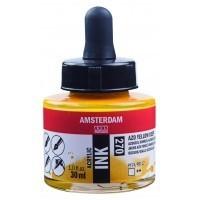 Акриловые чернила Royal Talens Amsterdam №270 желтый насыщенный АЗО 30 мл