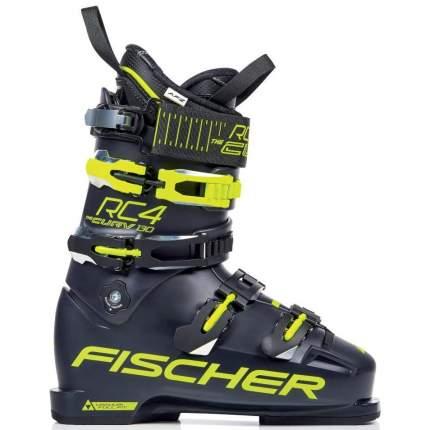 Горнолыжные ботинки Fischer RC4 Curv 130 Vacuum Full Fit 2019, darkblue/yellow, 28.5