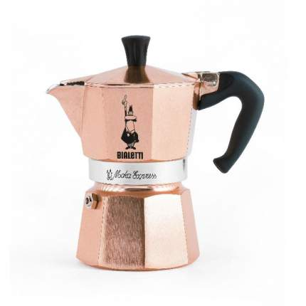Биалетти Гейзерная кофеварка Moka Express розовое золото на 3 чашки