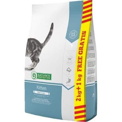 Сухой корм для котят Nature's Protection, курица, индейка и утка, 3 кг