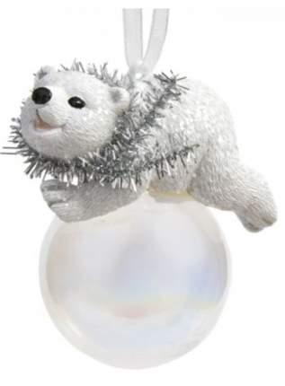 Новогоднее подвесное украшение Феникс-Презент Мишка на шаре