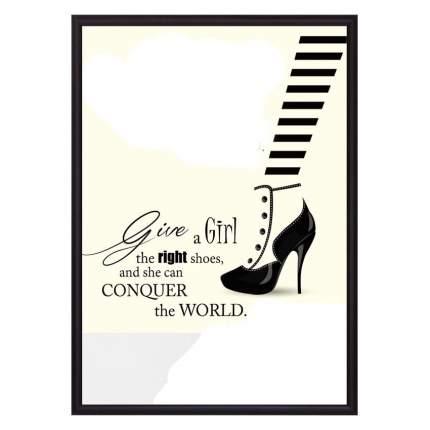 Постер в рамке Модная обувь 50 х 70 см Дом Корлеоне