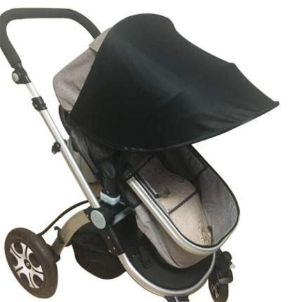 Козырек от солнца на коляску Happy Mom черный