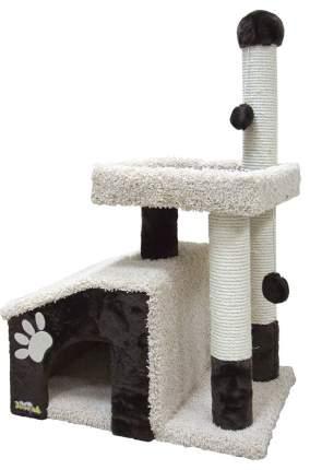 Комлпекс для кошек Зооник, мех, ковролин, темно-коричневый, 64х47х103см