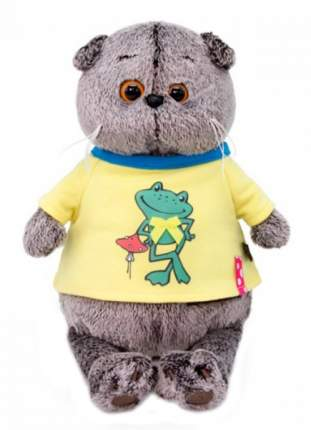 Мягкая игрушка BUDI BASA Басик в футболке с принтом Лягушонок, 30 см