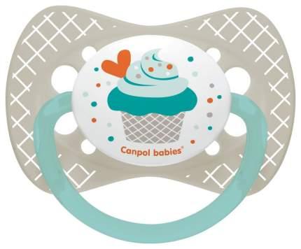Пустышка Canpol Cupcake симметричная, силик., арт. 23/284, 18+ мес., цвет серый