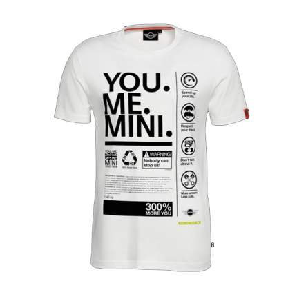 Мужская футболка Mini 80142338768t You.Me.Mini. White