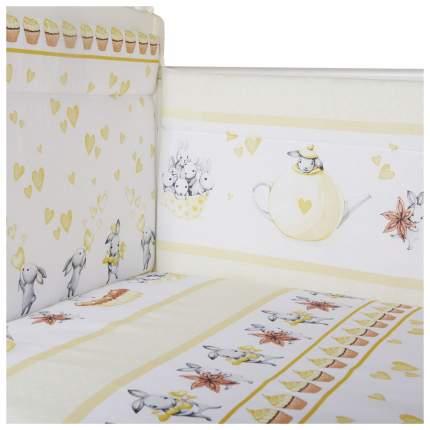 Бортик в кроватку Эдельвейс Чаепитие, желтый