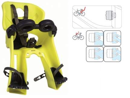 Детское велокресло переднее Bellelli Freccia B-Fix желтое/черное