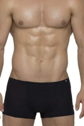 Хлопковые мужские трусы-боксеры с узкой резинкой, черные, XL