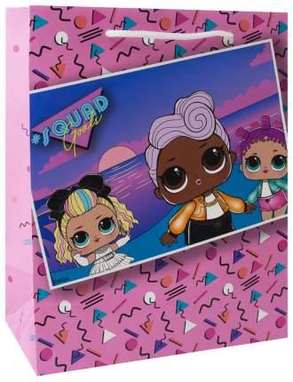 """Пакет подарочный малый """"LOL"""", розовый, 180х227х100 мм"""