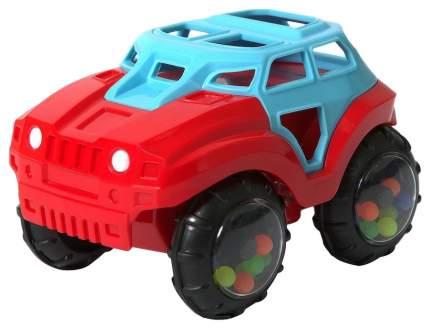 Машинка-неразбивайка, сине-красная