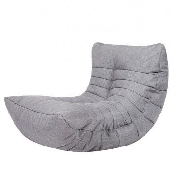Кресло бескаркасное Папа Пуф Cocoon Chair Grey, размер L, рогожка, серый