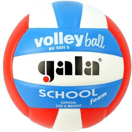 Волейбольный мяч Gala School Foam Colour №5 blue/white/red