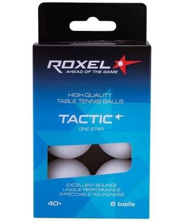 Мяч для настольного тенниса Roxel Tactic 1* 6 шт., белый