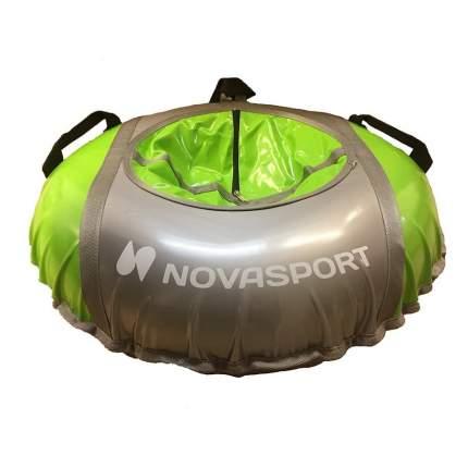 Тюбинг NovaSport 125 см усиленный тент с камерой СН051.125.3.1 серый салатовый