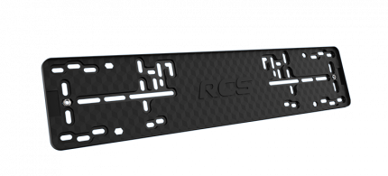 Пластиковая рамка номерного знака RCS-Light черная 1шт