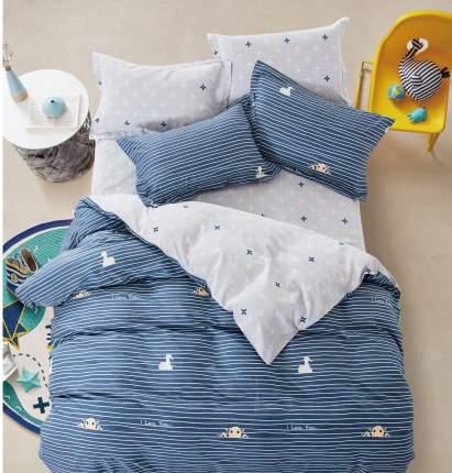 Комплект постельного белья Евро, сатин АльВиТек-CA-6-208
